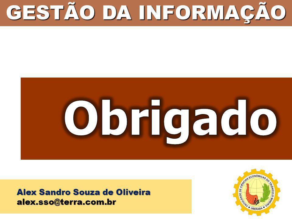 GESTÃO DA INFORMAÇÃO Alex Sandro Souza de Oliveira alex.sso@terra.com.br