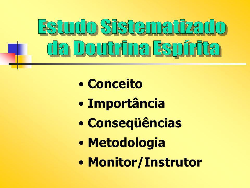Conceito Importância Conseqüências Metodologia Monitor/Instrutor