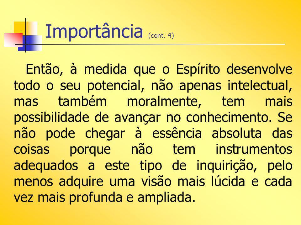 Importância (cont.5) O conhecimento real não é construção de alguns dias.