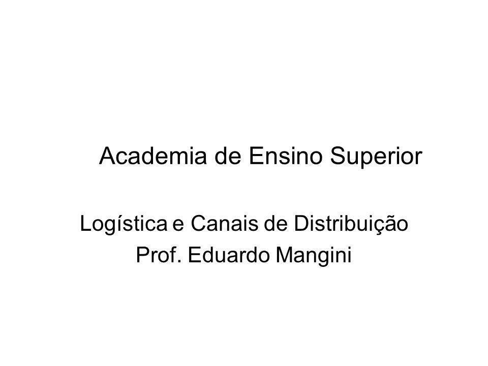 Academia de Ensino Superior Logística e Canais de Distribuição Prof. Eduardo Mangini