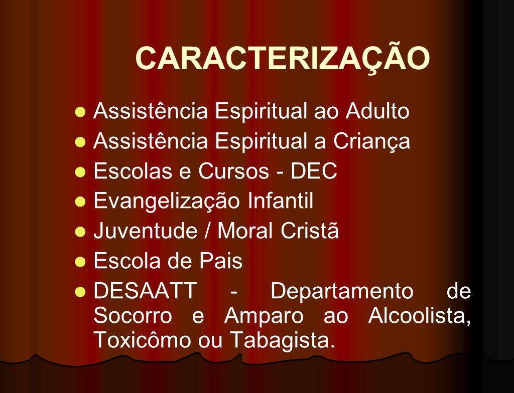 CARACTERIZAÇÃO Caracteriza-se como sendo uma atividade voltada a orientação das pessoas quanto aos diversos seguimentos que a Casa pode oferecer. Essa