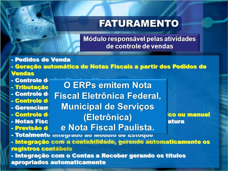 FATURAMENTOFATURAMENTO - Pedidos de Venda - Geração automática de Notas Fiscais a partir dos Pedidos de Vendas - Controle de Crédito dos Clientes - Tr