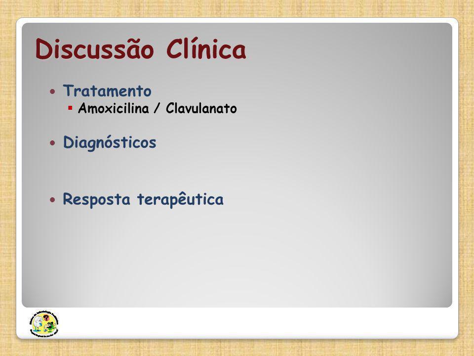 Discussão Clínica Tratamento Amoxicilina / Clavulanato Diagnósticos Resposta terapêutica