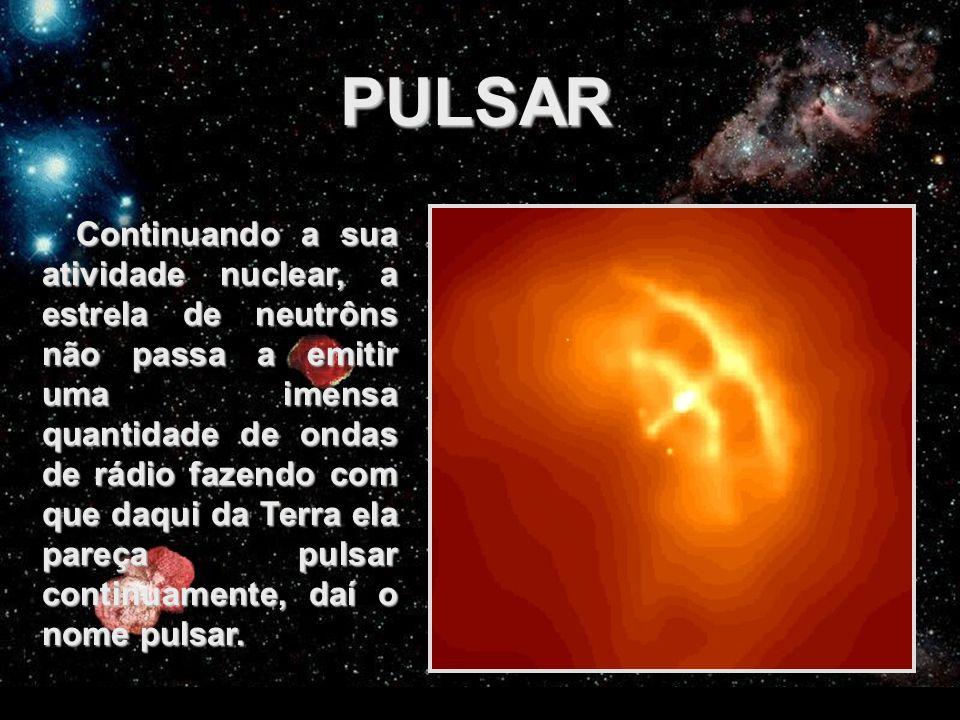 FEDERAÇÃO ESPÍRITA DO ESTADO DO CEARÁ PULSAR Continuando a sua atividade nuclear, a estrela de neutrôns não passa a emitir uma imensa quantidade de on
