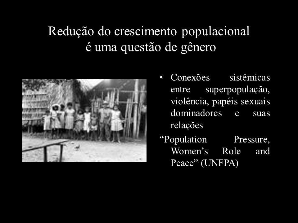 Redução do crescimento populacional é uma questão de gênero Conexões sistêmicas entre superpopulação, violência, papéis sexuais dominadores e suas rel