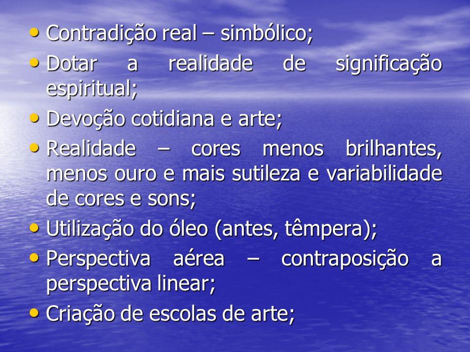 Contradição real – simbólico; Contradição real – simbólico; Dotar a realidade de significação espiritual; Dotar a realidade de significação espiritual