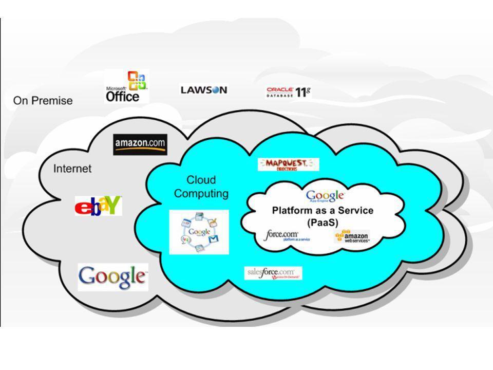 Cloud Computing O Cloud computing pode ser definido como um modelo no qual a computação (processamento, armazenamento e softwares) está em algum lugar da rede e é acessada remotamente, via internet.