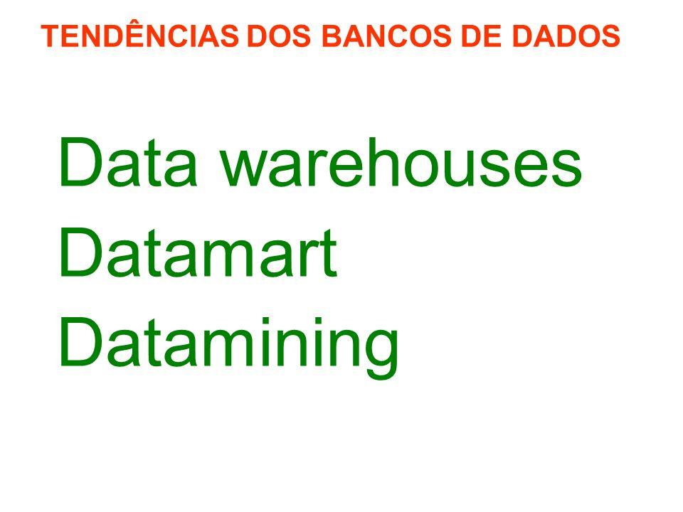 Data warehouses Datamart Datamining TENDÊNCIAS DOS BANCOS DE DADOS