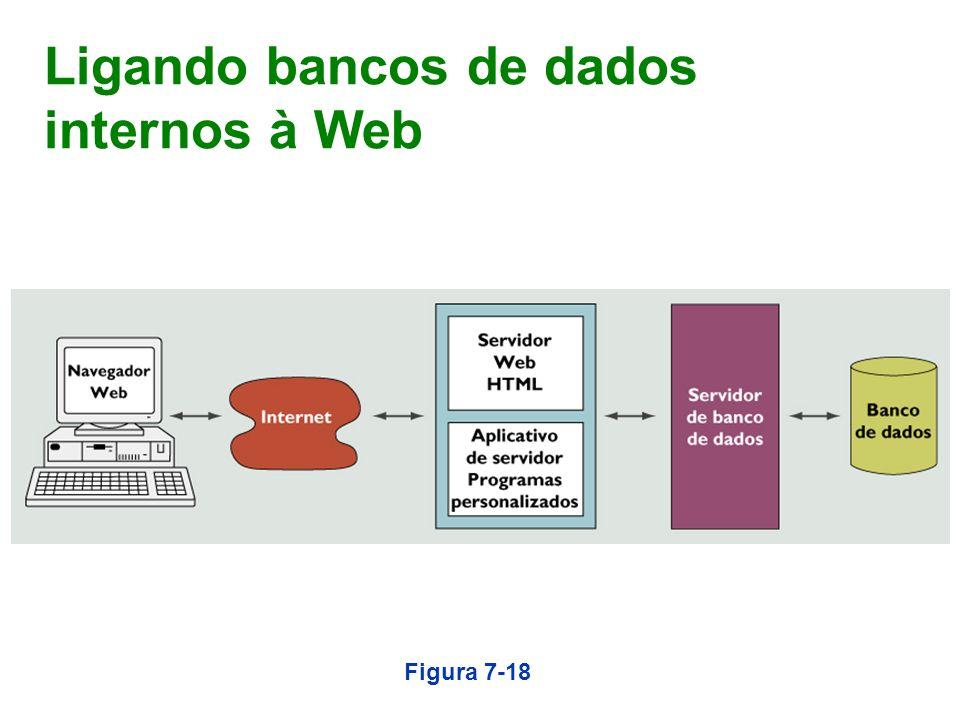 Ligando bancos de dados internos à Web Figura 7-18