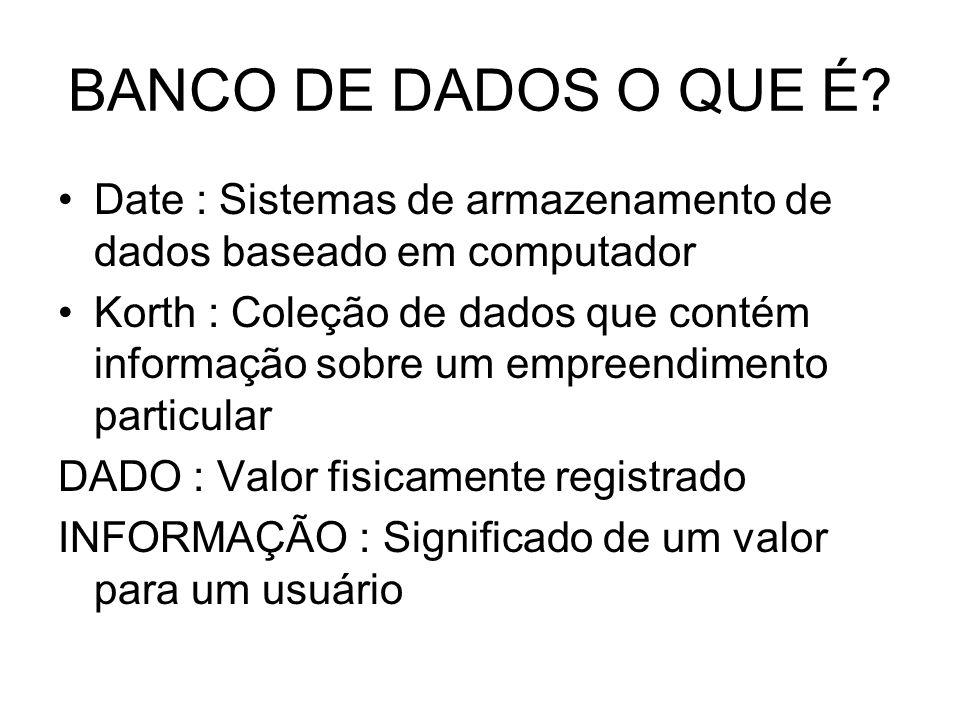 SISTEMA GERENCIADOR DE BANCO DE DADOS OBJETIVO: Proporcionar um ambiente que seja conveniente e eficiente na inserção e na recuparação de informações do banco de dados.