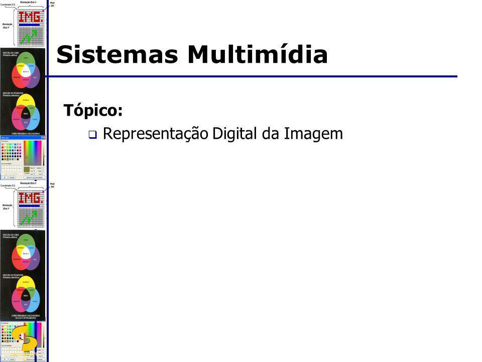 DSC/CEEI/UFC G Tópico: Representação Digital da Imagem Sistemas Multimídia