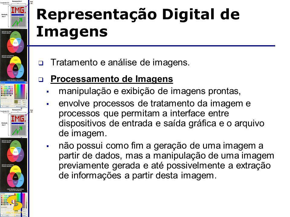 DSC/CEEI/UFC G Tratamento e análise de imagens. Processamento de Imagens manipulação e exibição de imagens prontas, envolve processos de tratamento da