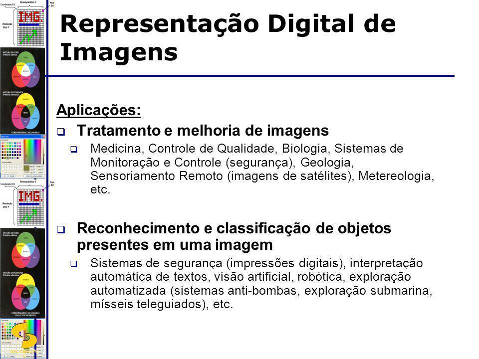 DSC/CEEI/UFC G Aplicações: Tratamento e melhoria de imagens Medicina, Controle de Qualidade, Biologia, Sistemas de Monitoração e Controle (segurança),