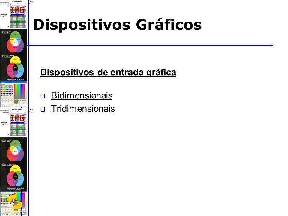 DSC/CEEI/UFC G Dispositivos de entrada gráfica Bidimensionais Tridimensionais Dispositivos Gráficos