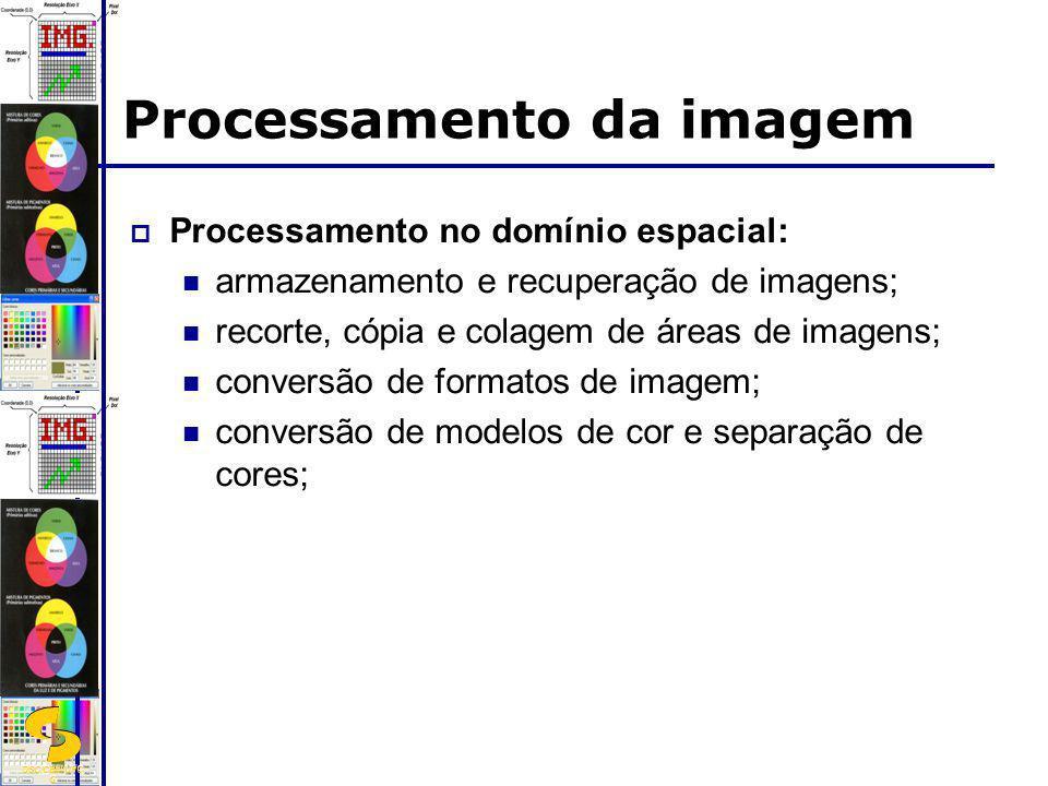 DSC/CEEI/UFC G Processamento da imagem Processamento no domínio espacial: armazenamento e recuperação de imagens; recorte, cópia e colagem de áreas de