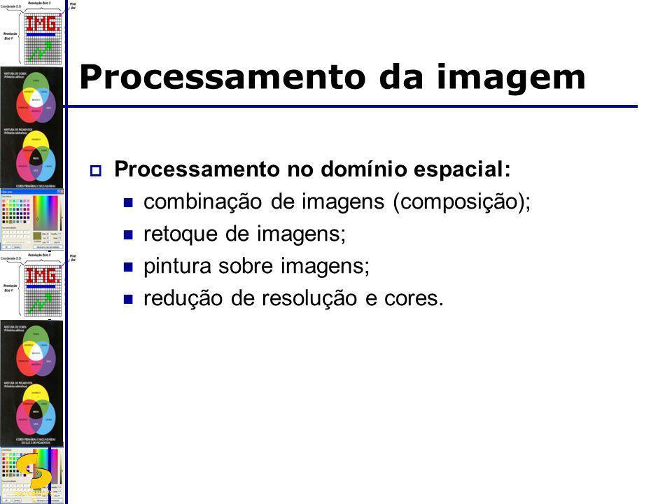 DSC/CEEI/UFC G Processamento da imagem Processamento no domínio espacial: combinação de imagens (composição); retoque de imagens; pintura sobre imagen