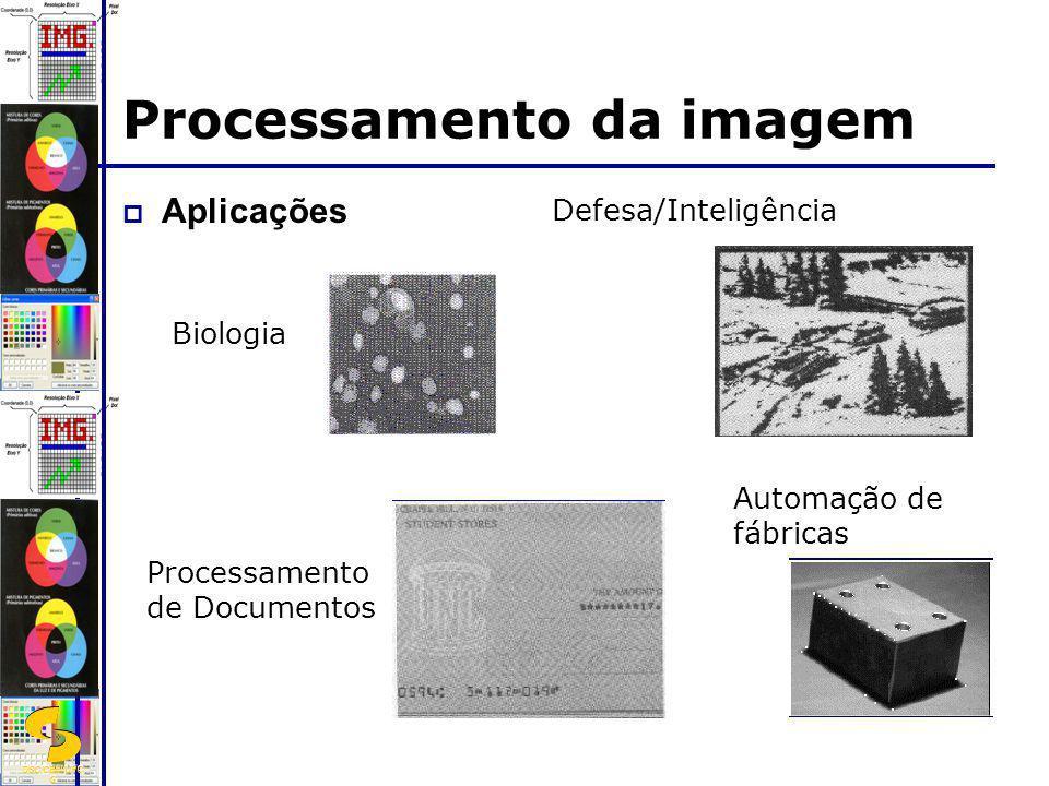 DSC/CEEI/UFC G Aplicações Biologia Defesa/Inteligência Processamento de Documentos Automação de fábricas Processamento da imagem