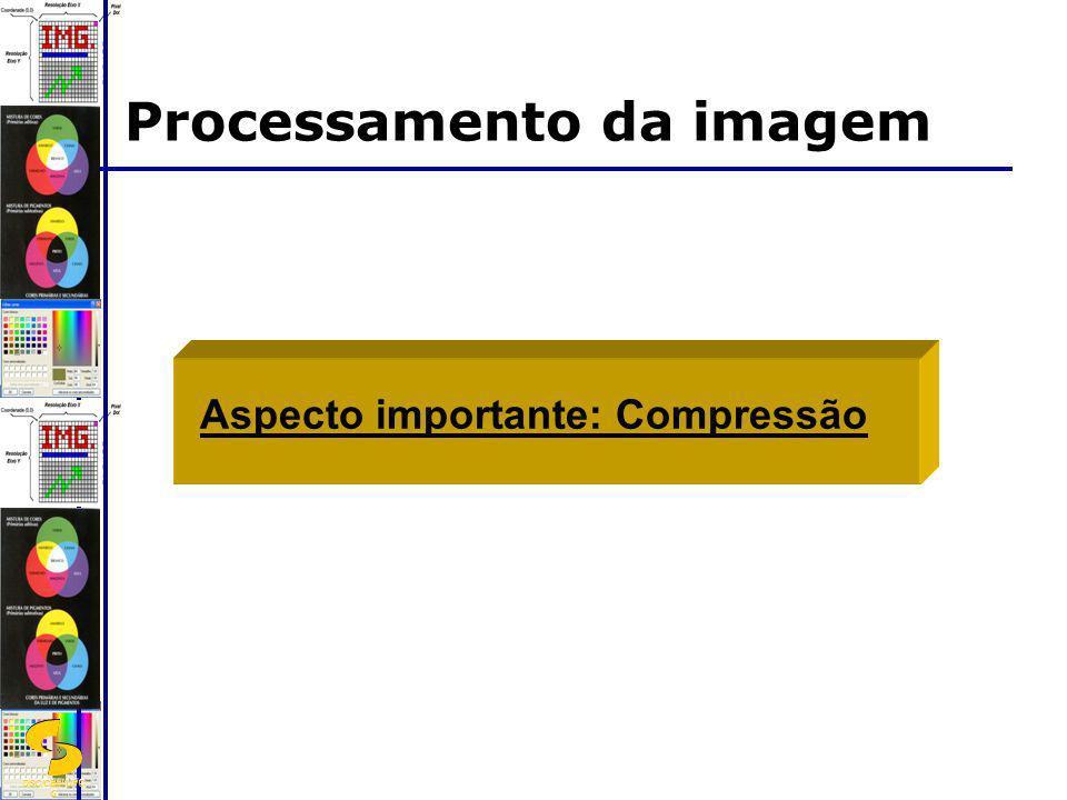 DSC/CEEI/UFC G Processamento da imagem Aspecto importante: Compressão