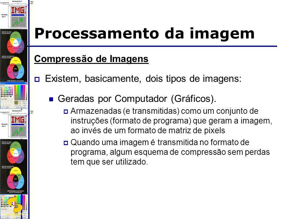 DSC/CEEI/UFC G Compressão de Imagens Existem, basicamente, dois tipos de imagens: Geradas por Computador (Gráficos). Armazenadas (e transmitidas) como