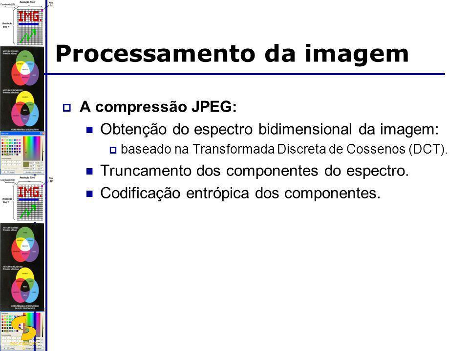 DSC/CEEI/UFC G Processamento da imagem A compressão JPEG: Obtenção do espectro bidimensional da imagem: baseado na Transformada Discreta de Cossenos (