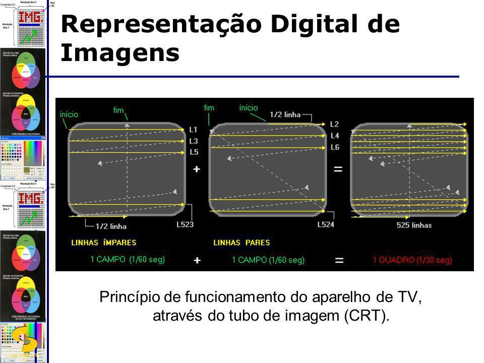 DSC/CEEI/UFC G Princípio de funcionamento do aparelho de TV, através do tubo de imagem (CRT). Representação Digital de Imagens
