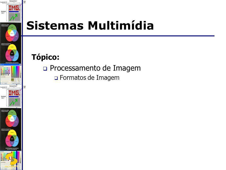 DSC/CEEI/UFC G Tópico: Processamento de Imagem Formatos de Imagem Sistemas Multimídia