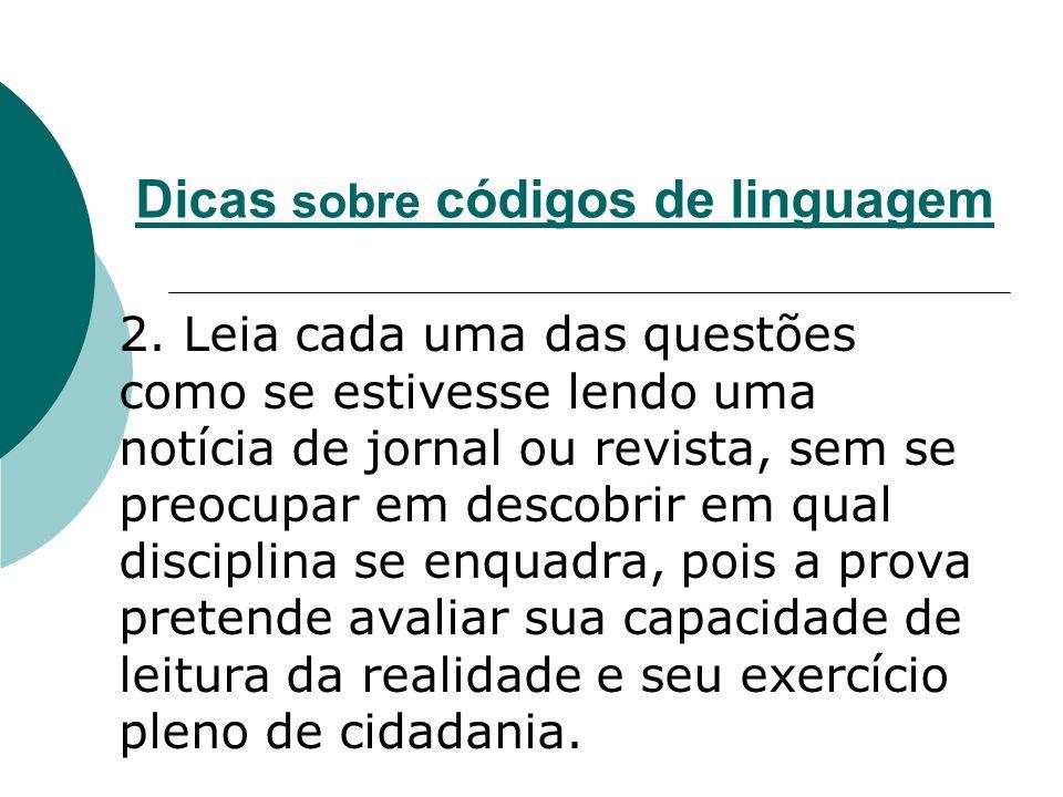 Dicas sobre códigos de linguagem 3.