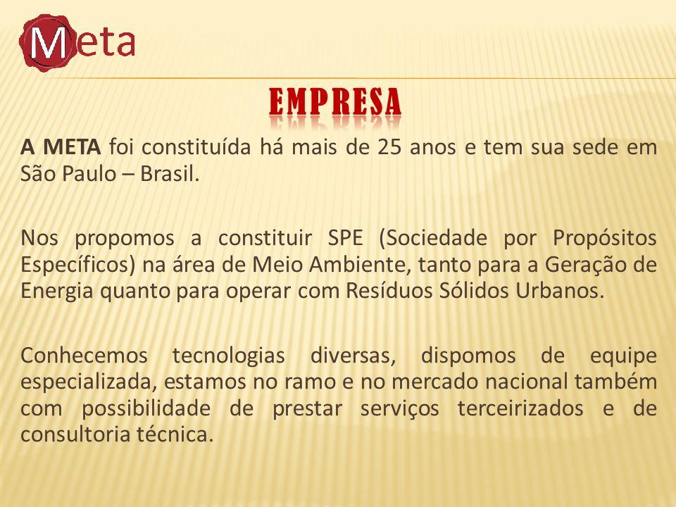 A META foi constituída há mais de 25 anos e tem sua sede em São Paulo – Brasil.