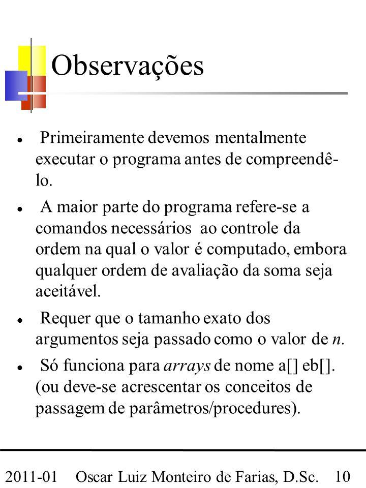 Oscar Luiz Monteiro de Farias, D.Sc.