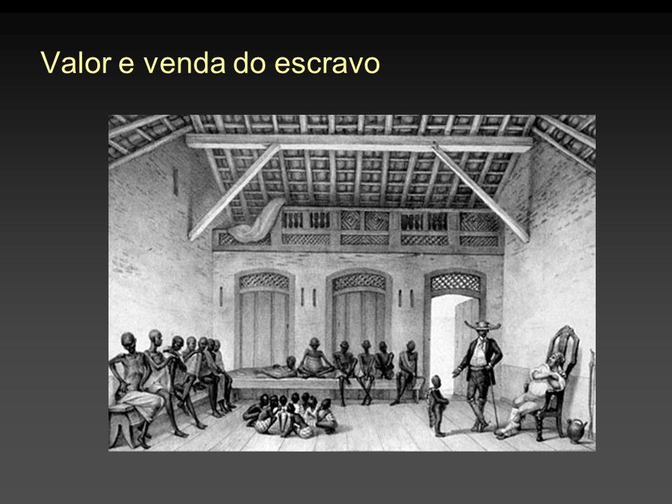 Valor e venda do escravo