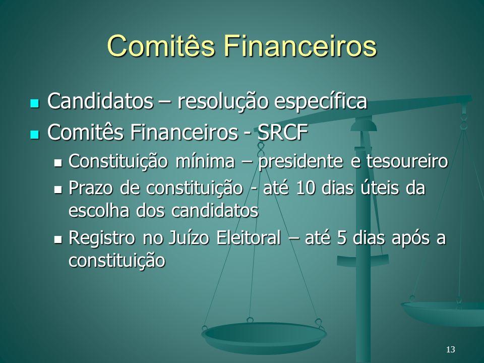 Comitês Financeiros Candidatos – resolução específica Candidatos – resolução específica Comitês Financeiros - SRCF Comitês Financeiros - SRCF Constitu