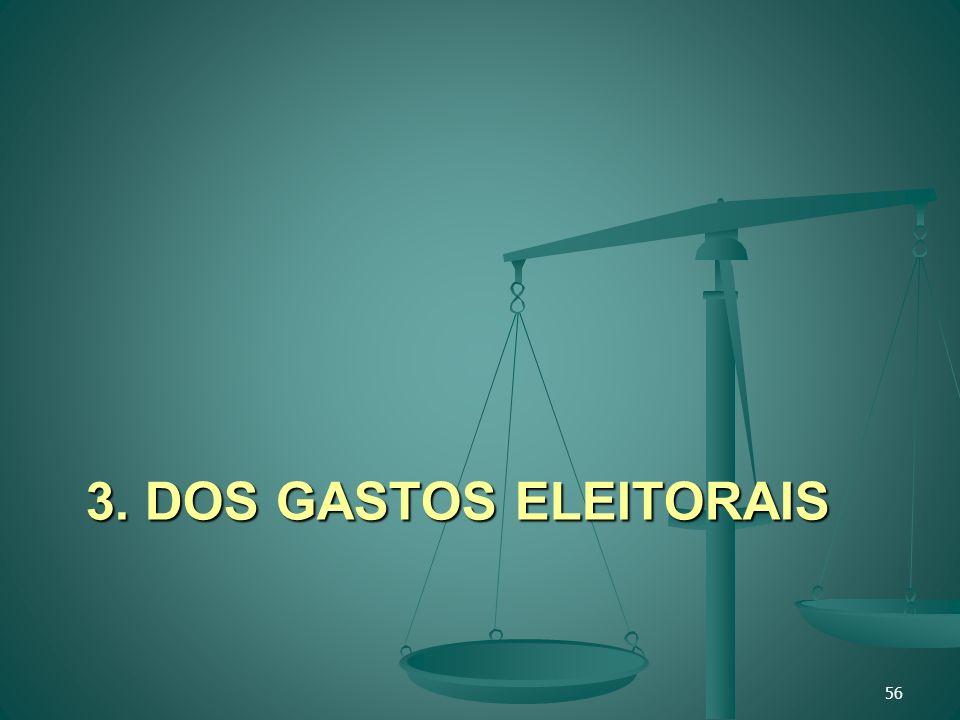 3. DOS GASTOS ELEITORAIS 56