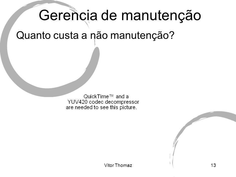 Vitor Thomaz13 Gerencia de manutenção Quanto custa a não manutenção?