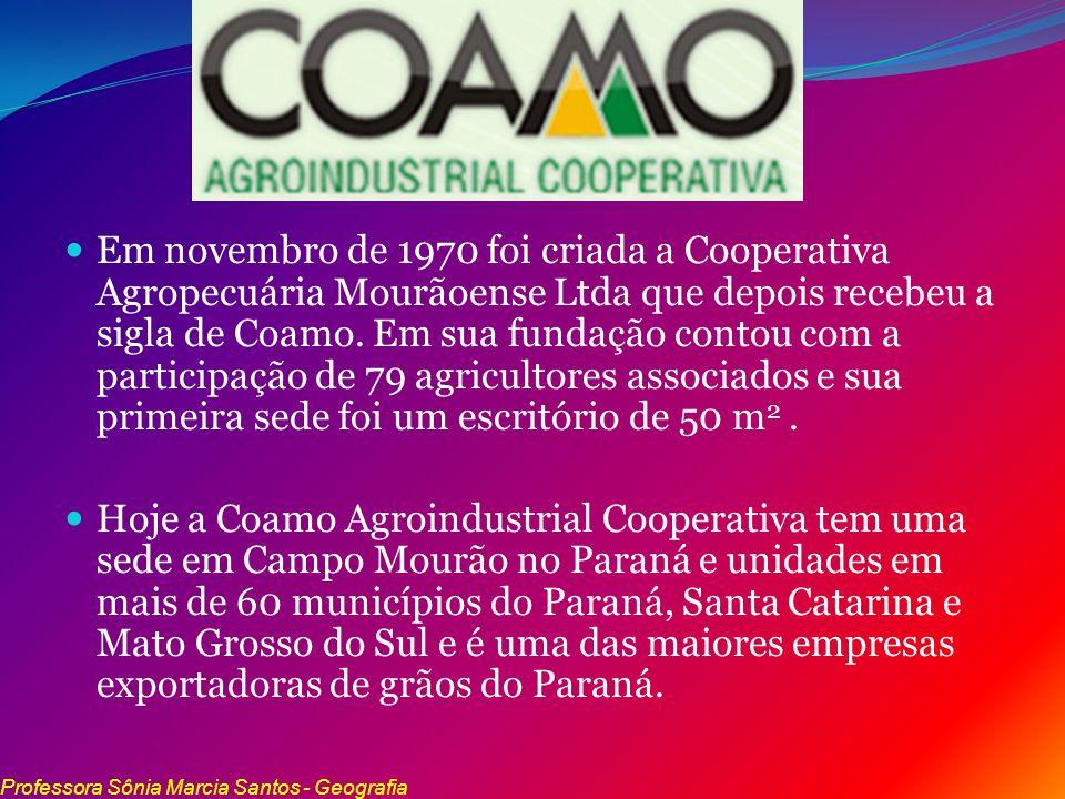 Em novembro de 1970 foi criada a Cooperativa Agropecuária Mourãoense Ltda que depois recebeu a sigla de Coamo. Em sua fundação contou com a participaç