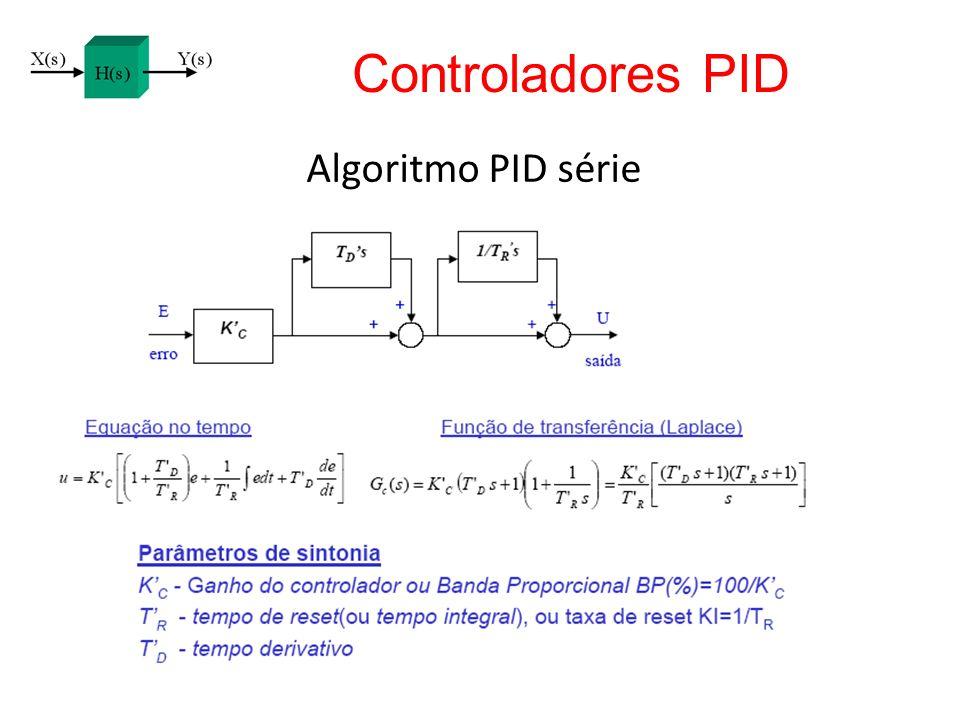 Algoritmo PID série Controladores PID