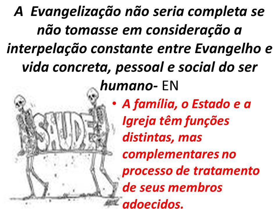 A Evangelização não seria completa se não tomasse em consideração a interpelação constante entre Evangelho e vida concreta, pessoal e social do ser hu