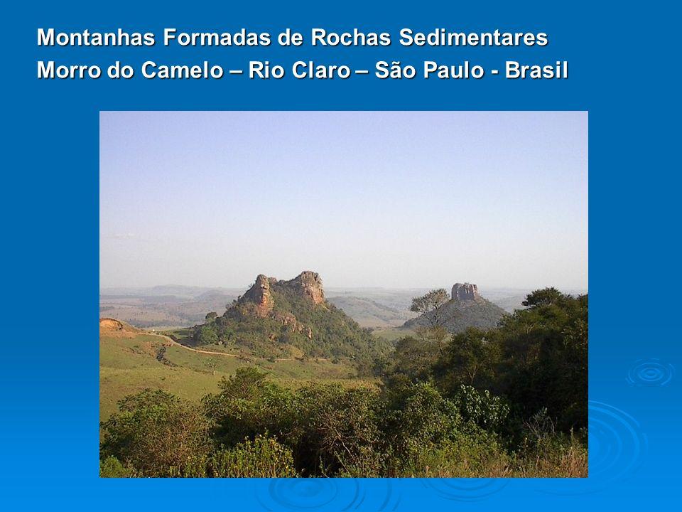 Montanhas Formadas de Rochas Sedimentares Morro do Camelo – Rio Claro – São Paulo - Brasil