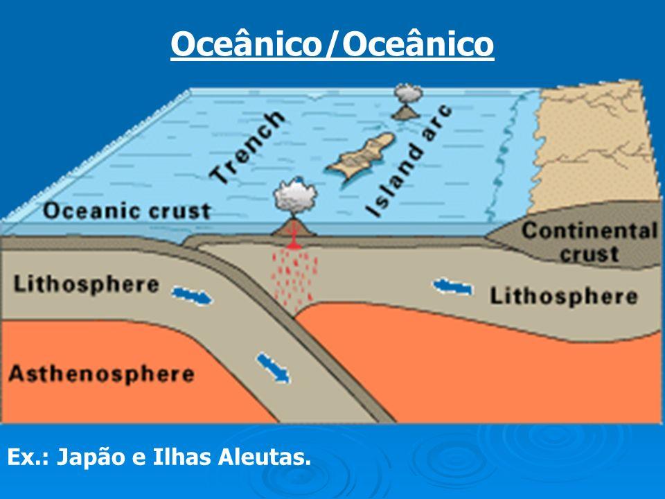 Oceânico/Oceânico Ex.: Japão e Ilhas Aleutas.