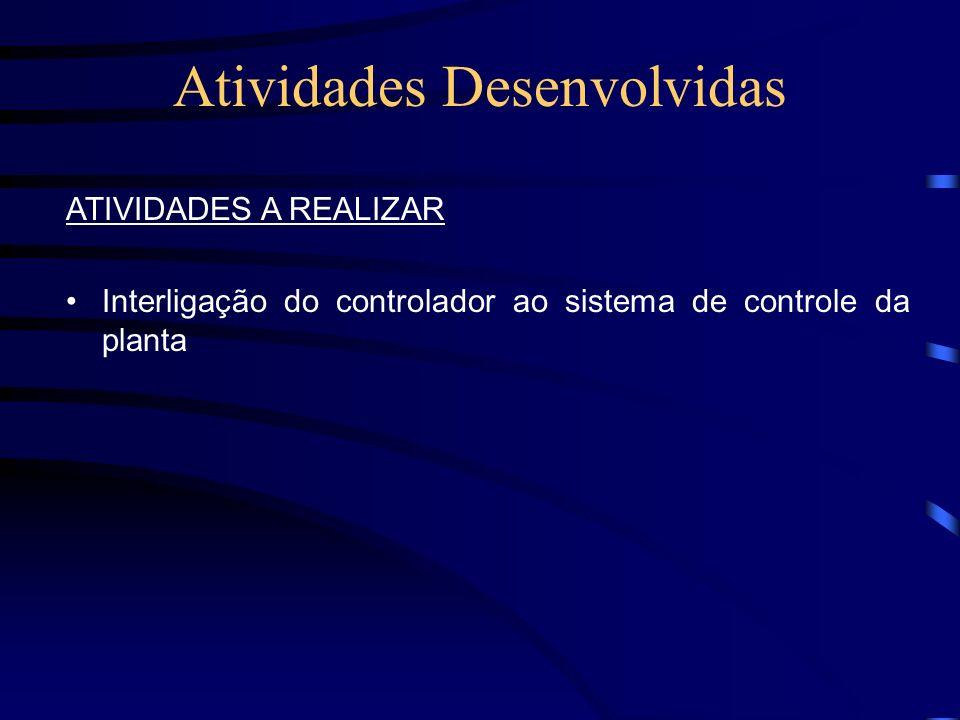 Atividades Desenvolvidas ATIVIDADES A REALIZAR Interligação do controlador ao sistema de controle da planta