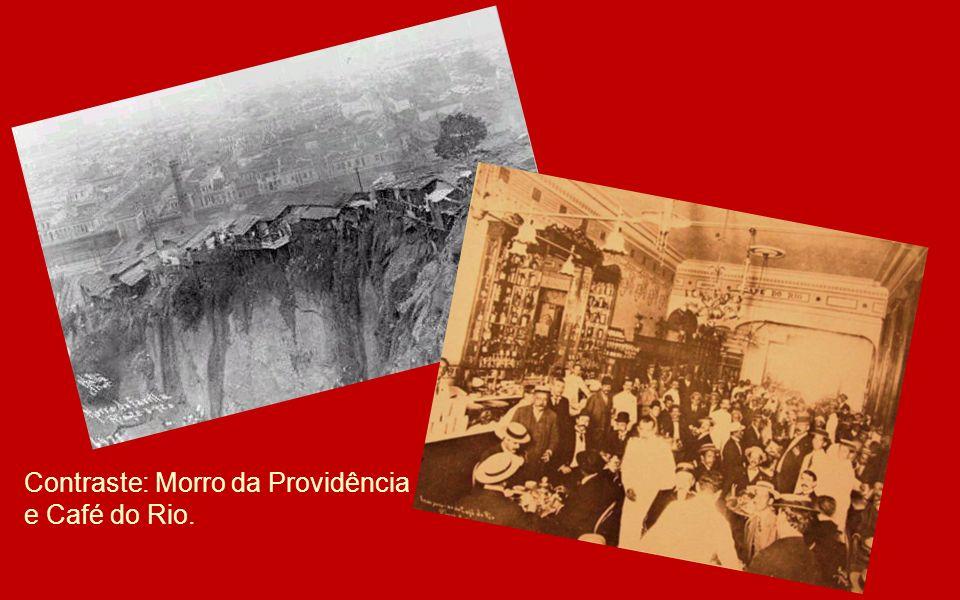 Contraste: Morro da Providência e Café do Rio.