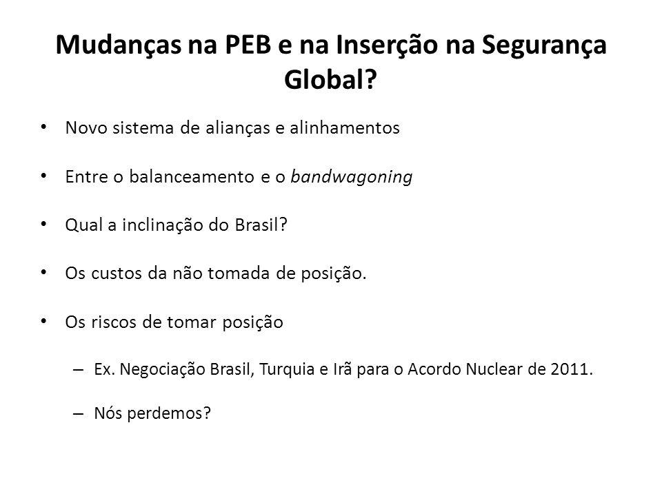 Desarmamento e não-proliferação Aproximação entre a Defesa e a Política Externa com o Tema Nuclear.