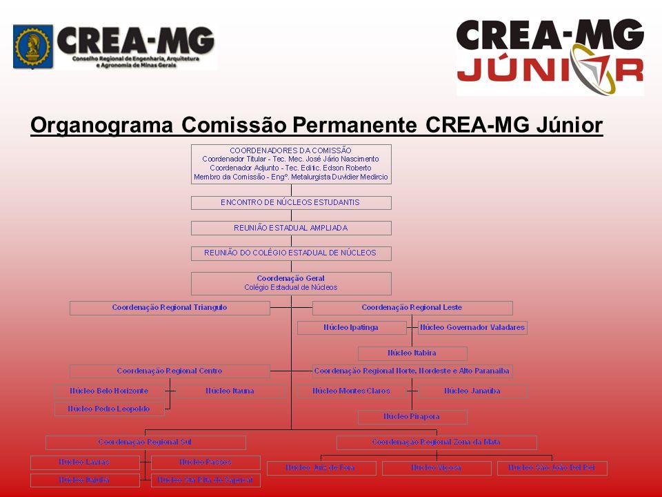 Organograma Comissão Permanente CREA-MG Júnior