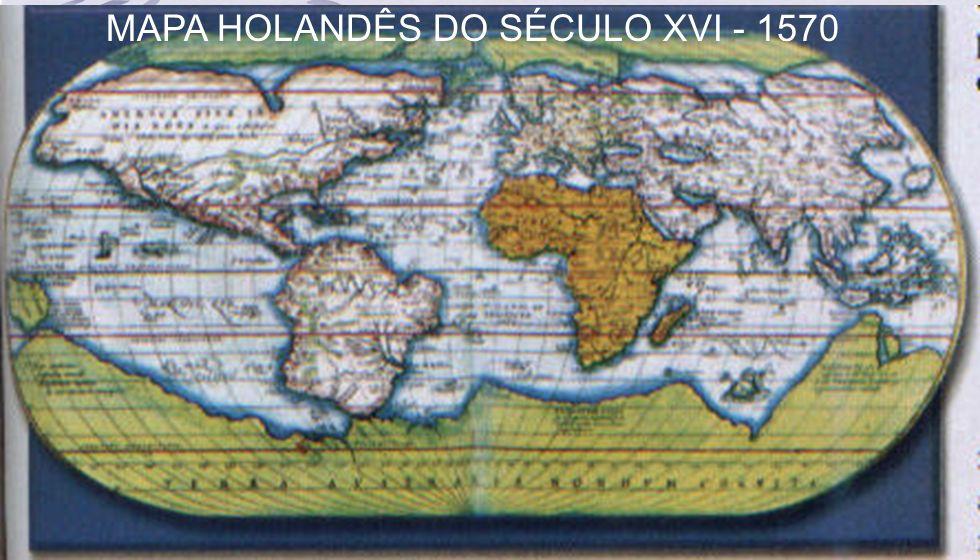 5 MAPA HOLANDÊS DO SÉCULO XVI - 1570