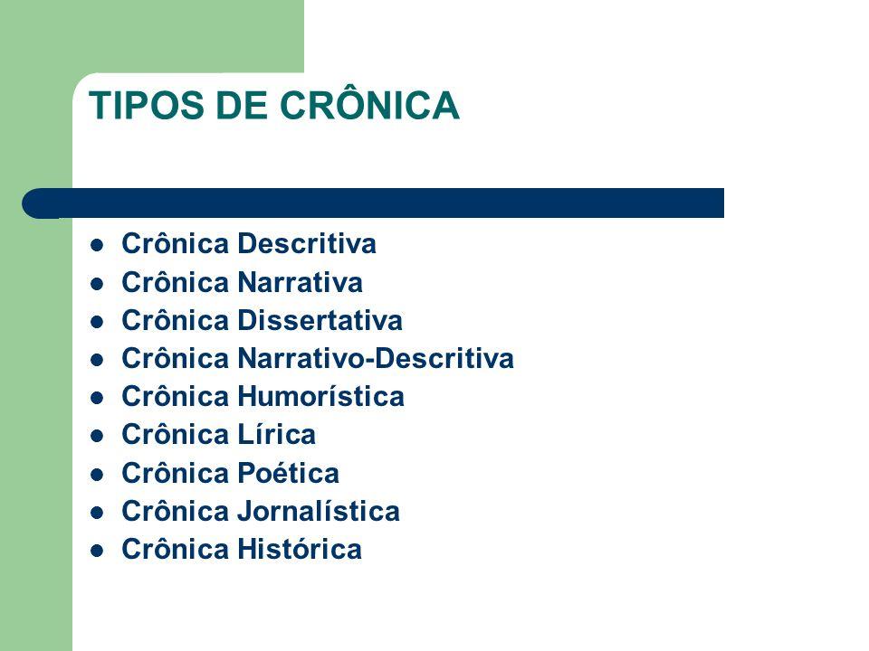 TIPOS DE CRÔNICA