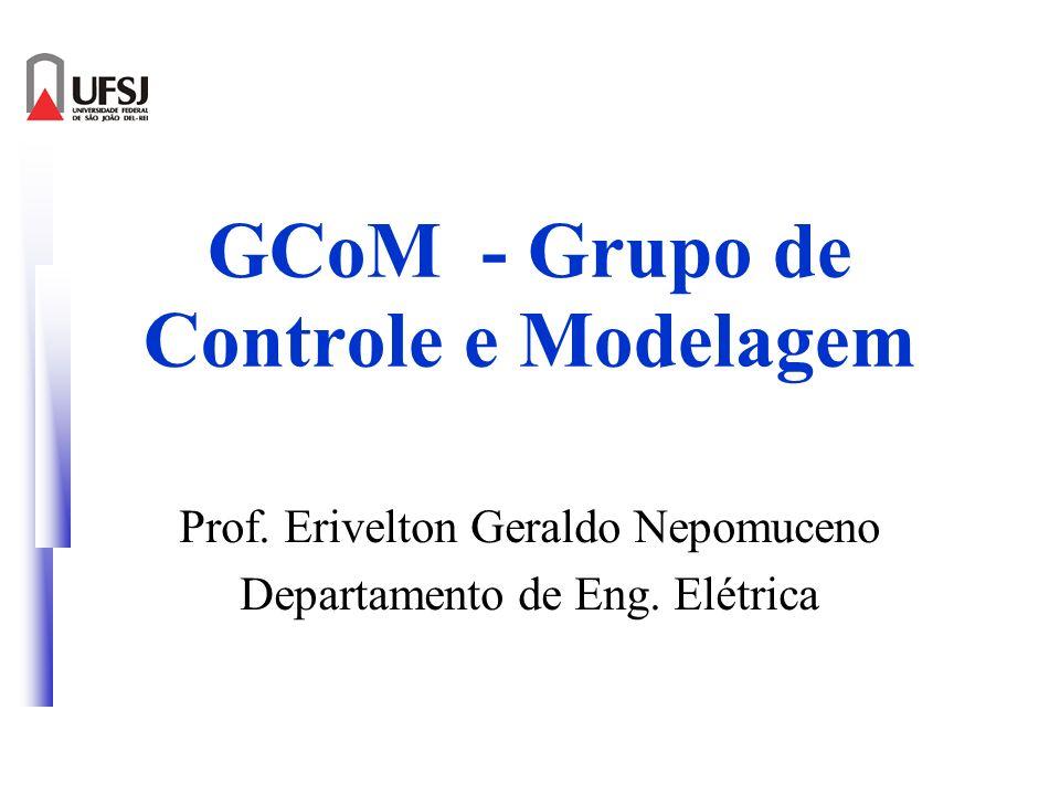 GCoM - Grupo de Controle e Modelagem Prof. Erivelton Geraldo Nepomuceno Departamento de Eng. Elétrica