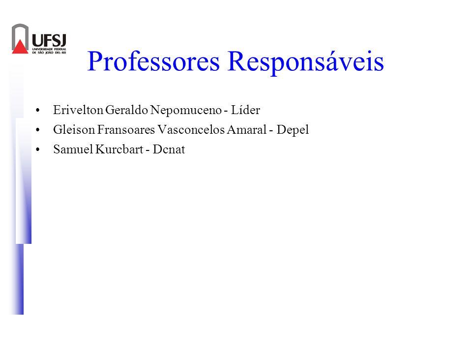 Professores Responsáveis Erivelton Geraldo Nepomuceno - Líder Gleison Fransoares Vasconcelos Amaral - Depel Samuel Kurcbart - Dcnat