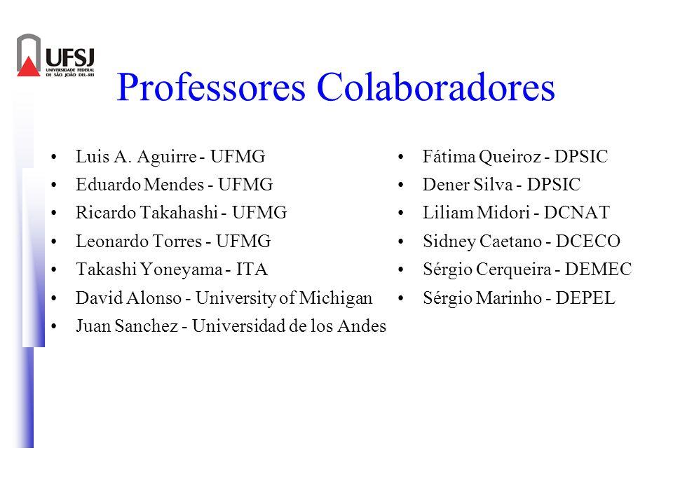 Professores Colaboradores Luis A. Aguirre - UFMG Eduardo Mendes - UFMG Ricardo Takahashi - UFMG Leonardo Torres - UFMG Takashi Yoneyama - ITA David Al