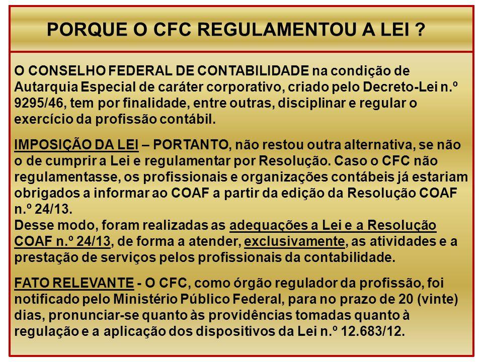O CONSELHO FEDERAL DE CONTABILIDADE na condição de Autarquia Especial de caráter corporativo, criado pelo Decreto-Lei n.º 9295/46, tem por finalidade,