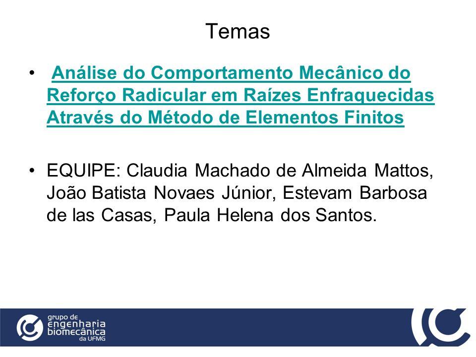 Temas Análise do Comportamento Mecânico do Reforço Radicular em Raízes Enfraquecidas Através do Método de Elementos FinitosAnálise do Comportamento Me