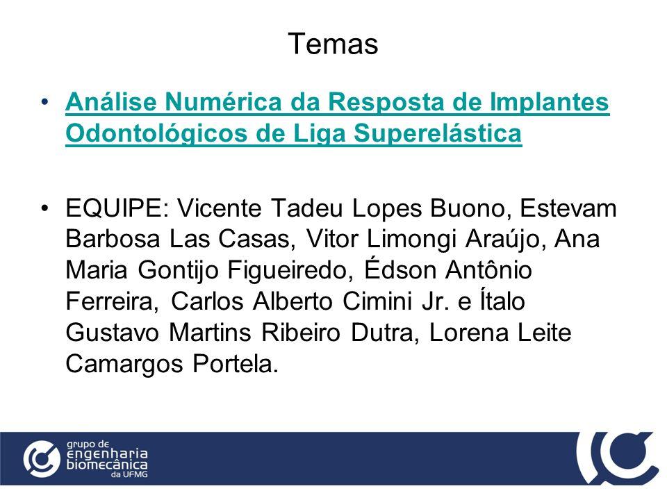 Temas Análise Numérica da Resposta de Implantes Odontológicos de Liga SuperelásticaAnálise Numérica da Resposta de Implantes Odontológicos de Liga Sup